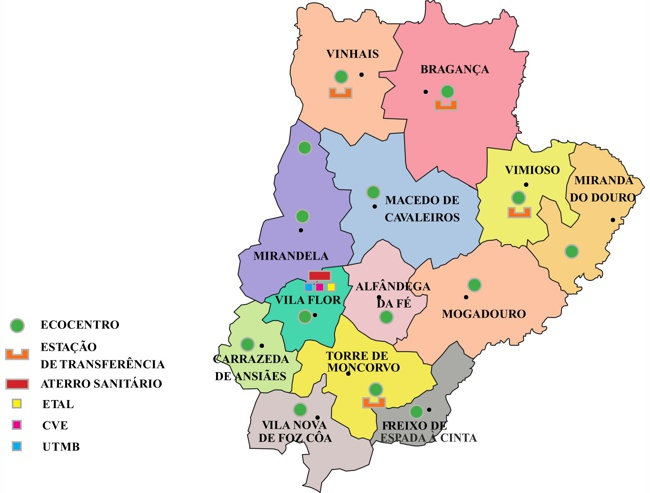 mapa de portugal torre de moncorvo Resíduos do Nordeste, EIM   Sobre nós   Curriculum Vitae da  mapa de portugal torre de moncorvo